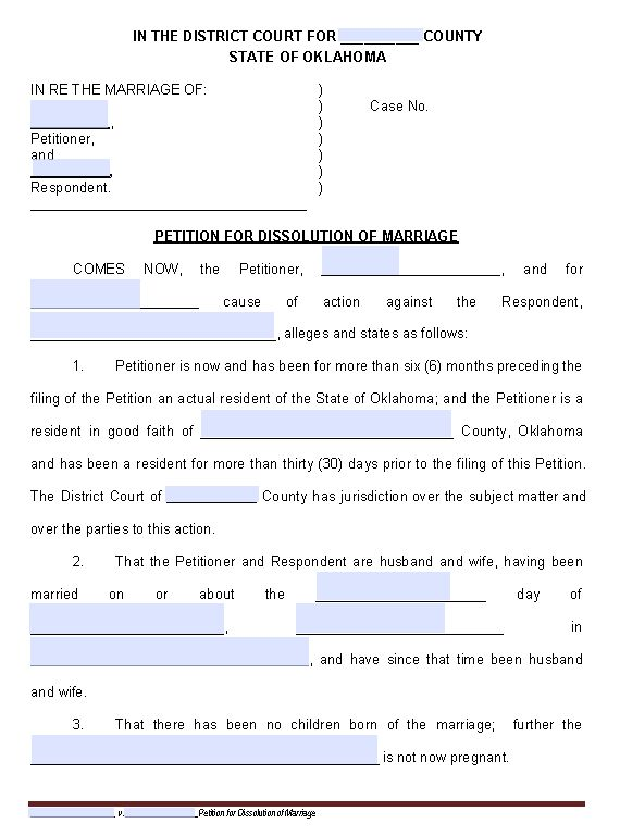 file a divorce in oklahoma